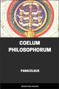 cover page for the Global Grey edition of Coelum Philosophorum by Paracelsus