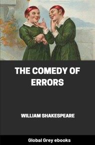 cover page for the Global Grey edition of The Comedy of Errors by William Shakespeare