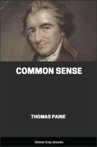 cover page for the Global Grey edition of Common Sense by Thomas Paine