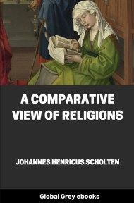 cover page for the Global Grey edition of A Comparative View of Religions by Johannes Henricus Scholten