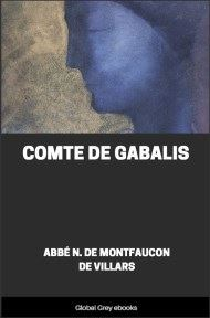 cover page for the Global Grey edition of Comte de Gabalis by Abbe N. De Montfaucon De Villars