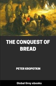 cover page for the Global Grey edition of The Conquest of Bread by Peter Kropotkin