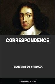 cover page for the Global Grey edition of Correspondence by Benedict de Spinoza