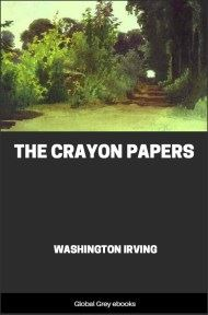 cover page for the Global Grey edition of The Crayon Papers by Washington Irving