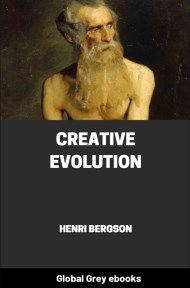 cover page for the Global Grey edition of Creative Evolution by Henri Bergson