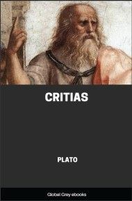 cover page for the Global Grey edition of Critias by Plato