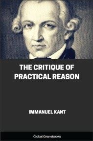 cover page for the Global Grey edition of The Critique of Practical Reason by Immanuel Kant