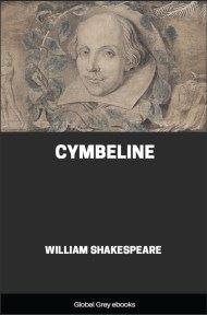 cover page for the Global Grey edition of Cymbeline by William Shakespeare