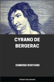 cover page for the Global Grey edition of Cyrano de Bergerac by Edmond Rostand