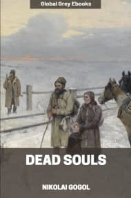 cover page for the Global Grey edition of Dead Souls by Nikolai Gogol
