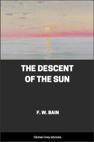 cover page for the Global Grey edition of The Descent of the Sun by F. W. Bain