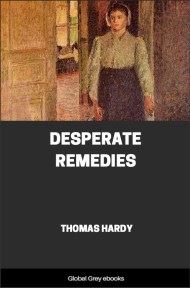 cover page for the Global Grey edition of Desperate Remedies by Thomas Hardy