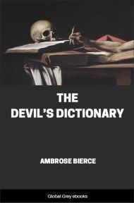 cover page for the Global Grey edition of The Devil's Dictionary by Ambrose Bierce
