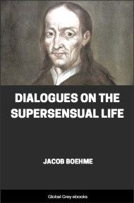 cover page for the Global Grey edition of Dialogues on the Supersensual Life by Jacob Boehme