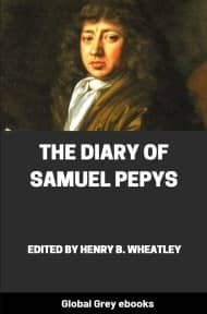 cover page for the Global Grey edition of The Diary of Samuel Pepys