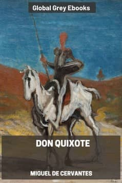 cover page for the Global Grey edition of Don Quixote by Miguel de Cervantes