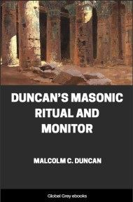 cover page for the Global Grey edition of Duncan's Masonic Ritual and Monitor by Malcolm C. Duncan
