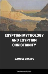 cover page for the Global Grey edition of Egyptian Mythology and Egyptian Christianity by Samuel Sharpe