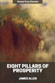 cover page for the Global Grey edition of Eight Pillars of Prosperity by James Allen