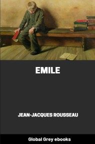 cover page for the Global Grey edition of Emile by Jean-Jacques Rousseau