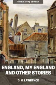 cover page for the Global Grey edition of England, My England and Other Stories by D. H. Lawrence