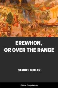 cover page for the Global Grey edition of Erewhon, Or Over The Range by Samuel Butler