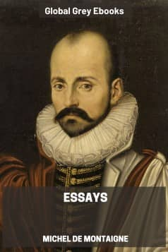 cover page for the Global Grey edition of Essays by Michel de Montaigne