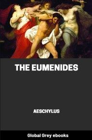cover page for the Global Grey edition of The Eumenides by Aeschylus