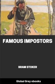 cover page for the Global Grey edition of Famous Impostors by Bram Stoker