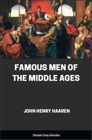cover page for the Global Grey edition of Famous Men of the Middle Ages by John Henry Haaren