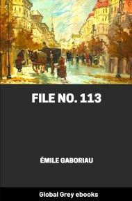Cover for the Global Grey edition of File No. 113 by Émile Gaboriau