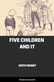 cover page for the Global Grey edition of Five Children and It by Edith Nesbit