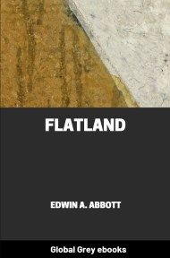 cover page for the Global Grey edition of Flatland by Edwin A. Abbott
