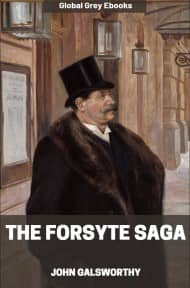cover page for the Global Grey edition of The Forsyte Saga by John Galsworthy