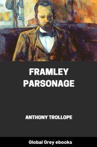 cover page for the Global Grey edition of Framley Parsonage by Anthony Trollope