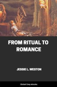 cover page for the Global Grey edition of From Ritual to Romance by Jessie L. Weston