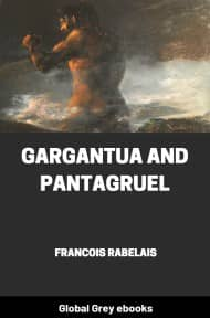 cover page for the Global Grey edition of Gargantua and Pantagruelv by Francois Rabelais