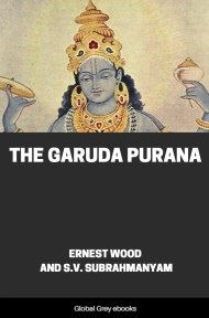 cover page for the Global Grey edition of The Garuda Purana by Ernest Wood and S.V. Subrahmanyam