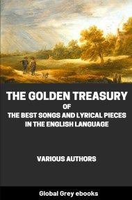 cover page for the Global Grey edition of The Golden Treasury by Various Authors