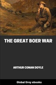 cover page for the Global Grey edition of The Great Boer War by Arthur Conan Doyle