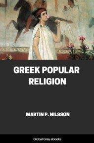 cover page for the Global Grey edition of Greek Popular Religion by Martin P. Nilsson