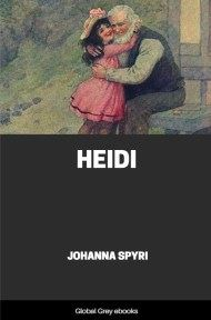 cover page for the Global Grey edition of Heidi by Johanna Spyri