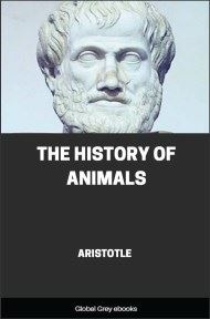 cover page for the Global Grey edition of The History of Animals by Aristotle