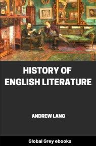cover page for the Global Grey edition of History of English Literature by Andrew Lang