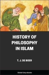 cover page for the Global Grey edition of History of Philosophy in Islam by T. J. De Boer