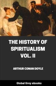 cover page for the Global Grey edition of The History of Spiritualism, Vol. II by Arthur Conan Doyle
