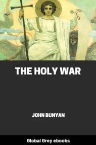 cover page for the Global Grey edition of The Holy War by John Bunyan