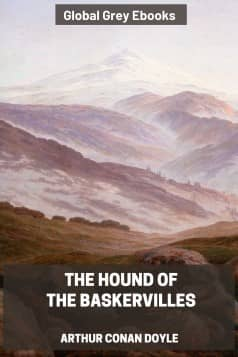 cover page for the Global Grey edition of The Hound of the Baskervilles by Arthur Conan Doyle