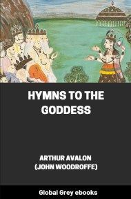 cover page for the Global Grey edition of Hymns to the Goddess by Arthur Avalon