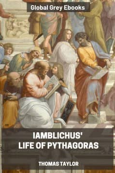cover page for the Global Grey edition of Iamblichus' Life of Pythagoras by Thomas Taylor
